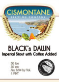 Cismontane Black�s Dawn