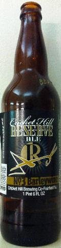 Cricket Hill Brewmaster�s Reserve Bourbon Barrel Aged Barleywine