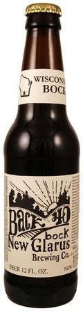 New Glarus Back 40 Bock