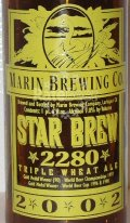 Marin Star Brew Triple Wheat Ale