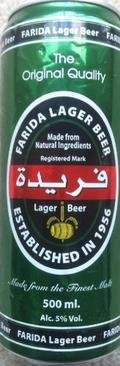 Farida Lager Beer