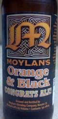 Moylans Orange & Black Congrats Ale!
