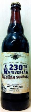 Natty Greene�s 230th Anniversary Oak Aged American Sour Ale