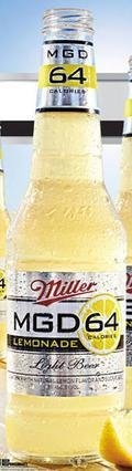 Miller Genuine Draft Light 64 Lemonade (MGD Light 64)  - Fruit Beer/Radler