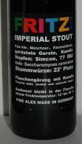 Fritz Ale Imperial Stout