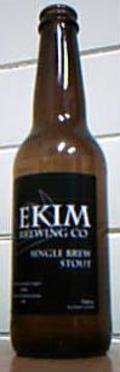 Ekim Single Brew Stout - Stout