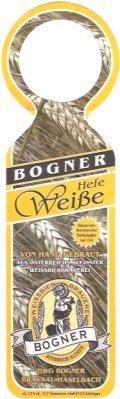 Bogner Hefe Weisse - German Hefeweizen