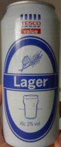 Tesco Value Lager - Pale Lager
