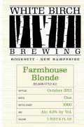 White Birch Farmhouse Blonde - Saison