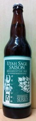 Epic Utah Sage Saison  - Spice/Herb/Vegetable