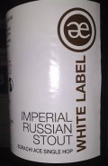 Emelisse White Label Imperial Russian Stout Sorachi Ace Single Hop - Imperial Stout