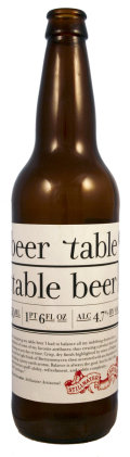 Stillwater Beer Table - Table Beer