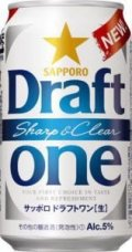 Sapporo Draft One Sharp and Clear
