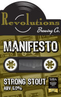 Revolutions Manifesto Strong Stout