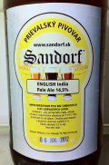 Sandorf English IPA 14.5% - India Pale Ale (IPA)
