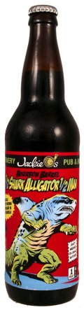 Jackie-Os Bourbon Barrel 1/2 Sharkalligator 1/2 Man    - Belgian Strong Ale