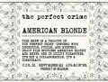 The Perfect Crime American Blonde - Belgian Ale