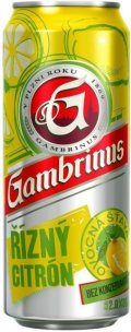Gambrinus ř�zn� citr�n - Fruit Beer/Radler