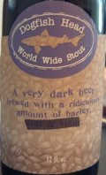 Dogfish Head World Wide Stout 2002 (23%)