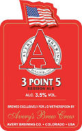 Adnams / Avery 3 Point 5 Session Ale