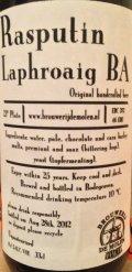 De Molen Rasputin Laphroaig Barrel Aged