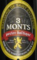 St. Sylvestre 3 Monts Porter Baltique - Baltic Porter