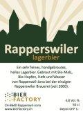 Bier Factory Rapperswil Rapperswiler Lager Bier