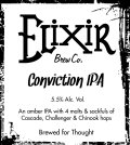 Elixir Conviction IPA