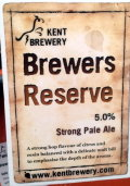 Kent Brewers Reserve - Golden Ale/Blond Ale