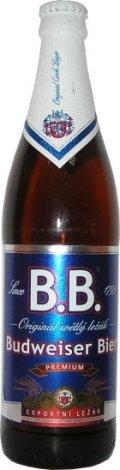 B.B. Origin�l Světl� Le��k Budweiser Bier