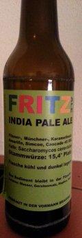 Fritz Ale India Pale Ale 15.4 Plato