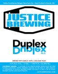 Justice Duplex - Belgian Strong Ale
