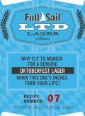 Full Sail Limited Edition Lager (LTD 07)