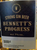 Marble Bennett�s Progress, Strong Gin Beer