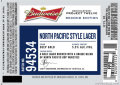 Budweiser Project Twelve - Batch 94534 (North Pacific Style Lager)