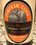 Crown Valley Pumpkin Cider