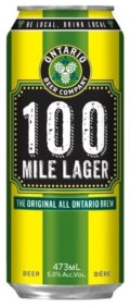 Ontario Beer Company 100 Mile Lager