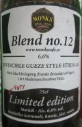 Monks Caf� Blend no.12 Invincible Gueze Style Sthlm Ale