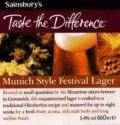 Sainsbury�s Munich Style Festival Lager - Oktoberfest/M�rzen