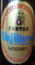 Fortas Unfiltered Weissbier - German Hefeweizen