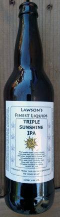 Lawson�s Finest Triple Sunshine IPA - Imperial IPA
