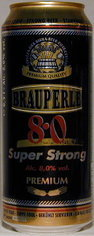 Brauperle 8.0 Super Strong / Extra Forte - Strong Pale Lager/Imperial Pils