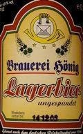 H�nig Lagerbier Ungespundet