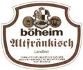 B�heim Altfr�nkisch Landbier