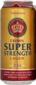Sainsbury�s Crown Super Strength Lager - Strong Pale Lager/Imperial Pils