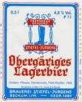 Stiefel-J�rgens Oberg�riges Lagerbier