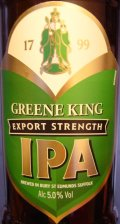 Greene King IPA Export (Filtered) - Premium Bitter/ESB