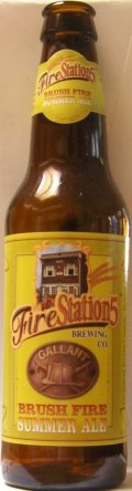Fire Station 5 Brush Fire Summer Ale - Golden Ale/Blond Ale