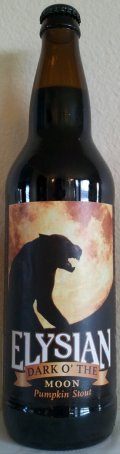 Elysian Dark O� The Moon Pumpkin Stout - Spice/Herb/Vegetable