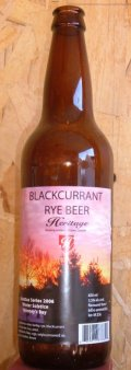 Heritage Black Currant Rye Ale - Fruit Beer